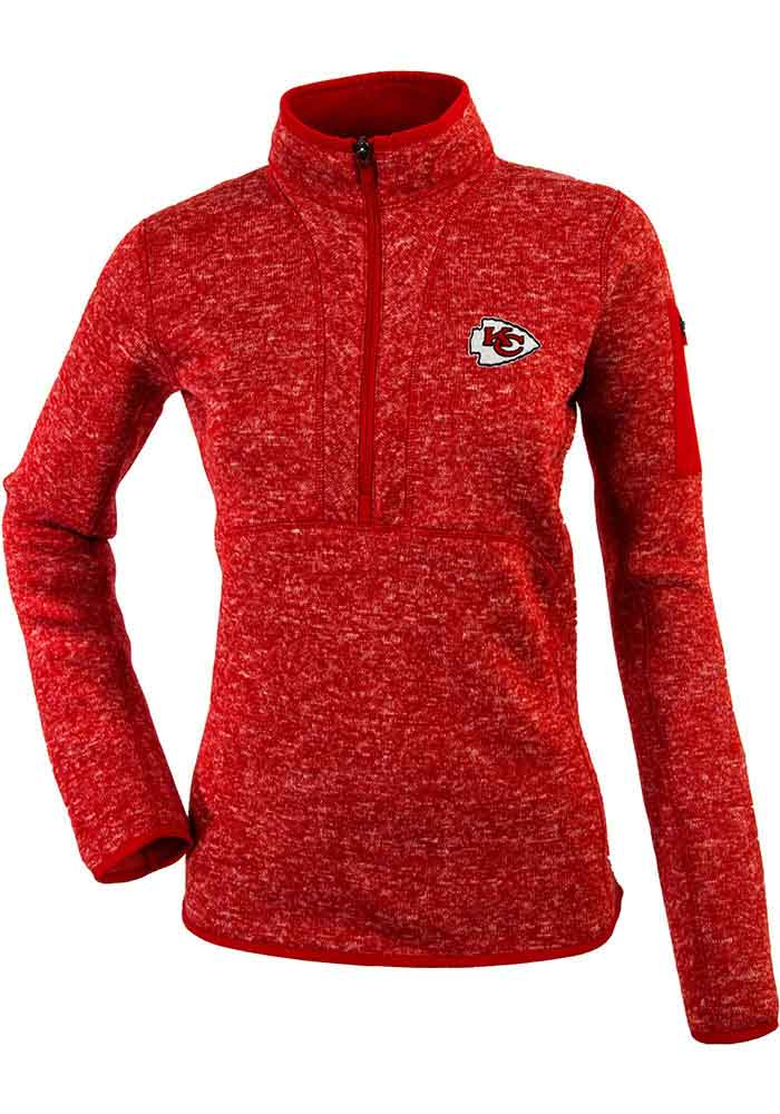 Antigua Kansas City Chiefs Womens Fortune Red 1 4 Zip Pullover 073a78ac6
