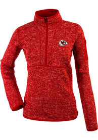Kansas City Chiefs Womens Antigua Fortune 1/4 Zip Pullover - Red