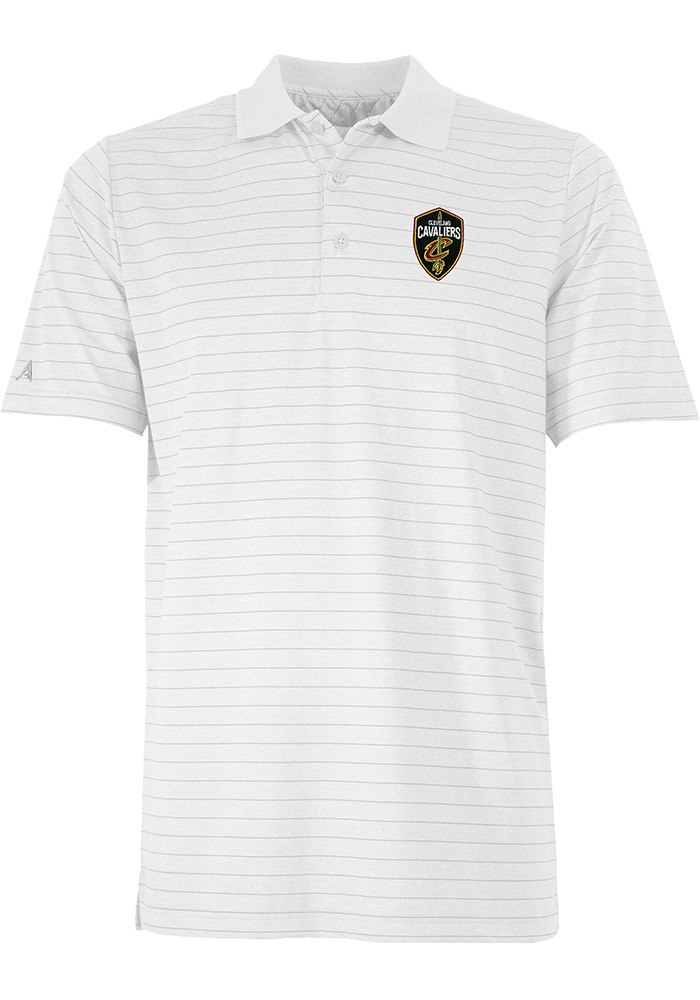 Antigua Cleveland Cavaliers Mens White Aerial Short Sleeve Polo - Image 1