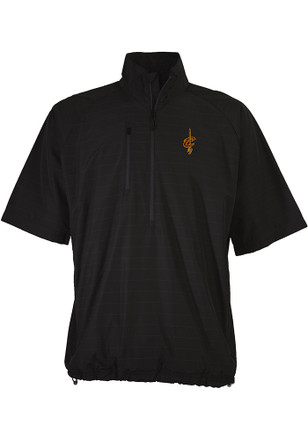 Antigua Cleveland Cavaliers Mens Black Cyclone Short Sleeve 1/4 Zip