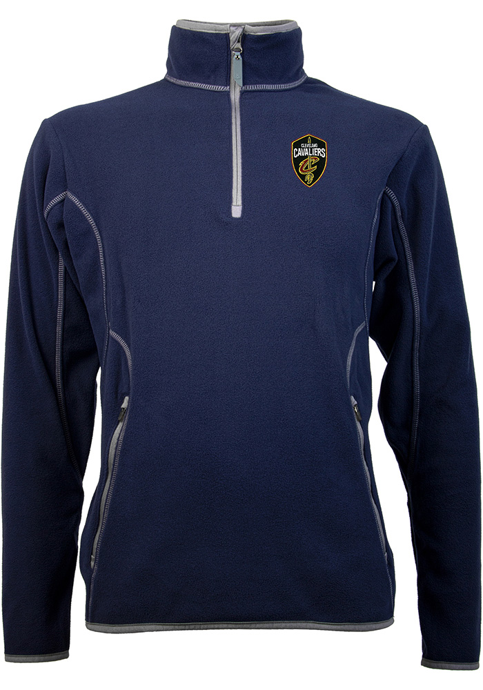 Antigua Cleveland Cavaliers Mens Navy Blue Ice Long Sleeve 1/4 Zip Pullover - Image 1
