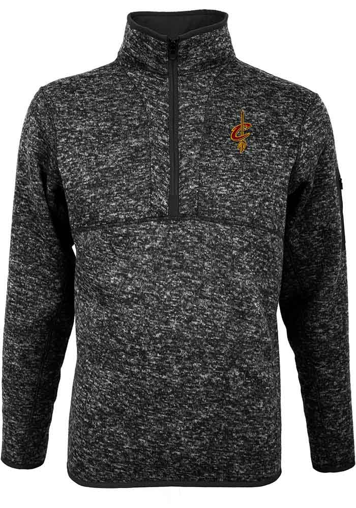Antigua Cleveland Cavaliers Mens Black Fortune Long Sleeve 1/4 Zip Pullover - Image 1