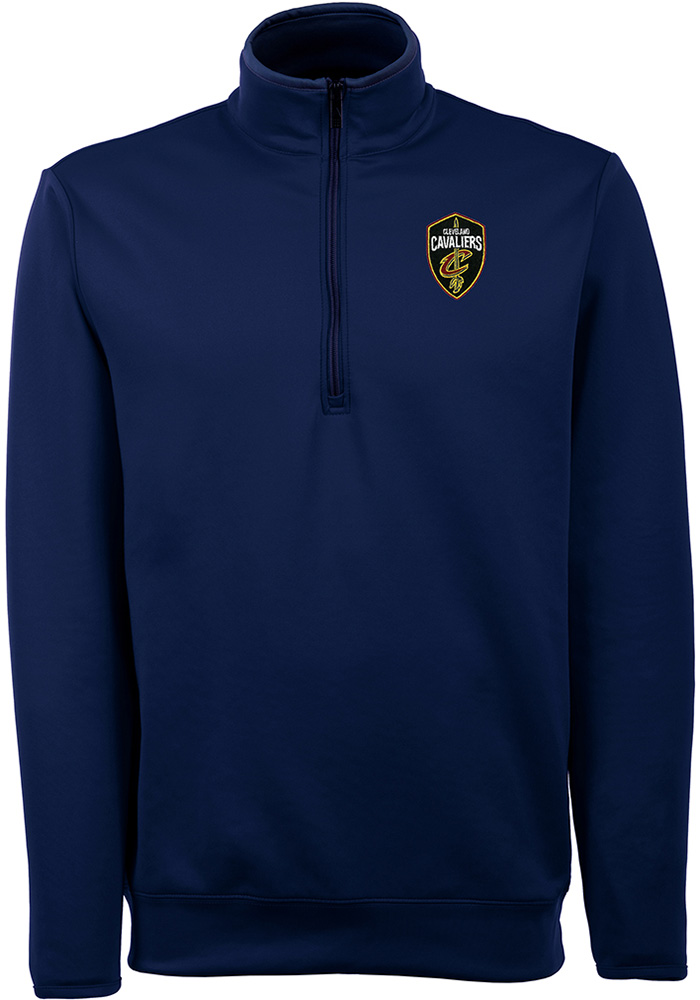 Antigua Cleveland Cavaliers Mens Navy Blue Leader Long Sleeve 1/4 Zip Pullover - Image 1