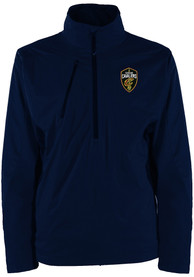 Cleveland Cavaliers Antigua Discover 1/4 Zip Pullover - Navy Blue
