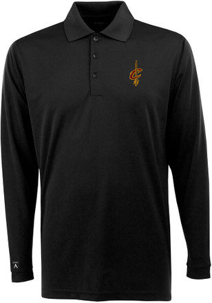 Antigua Cleveland Cavaliers Mens Black Exceed Polo