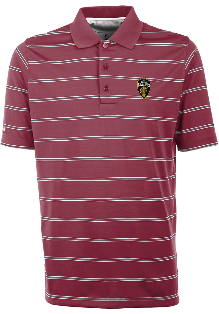 Antigua Cleveland Cavaliers Mens Red Deluxe Short Sleeve Polo - Image 1