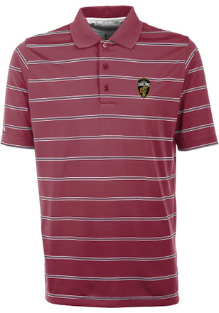 Antigua Cleveland Cavaliers Mens Red Deluxe Short Sleeve Polo Shirt