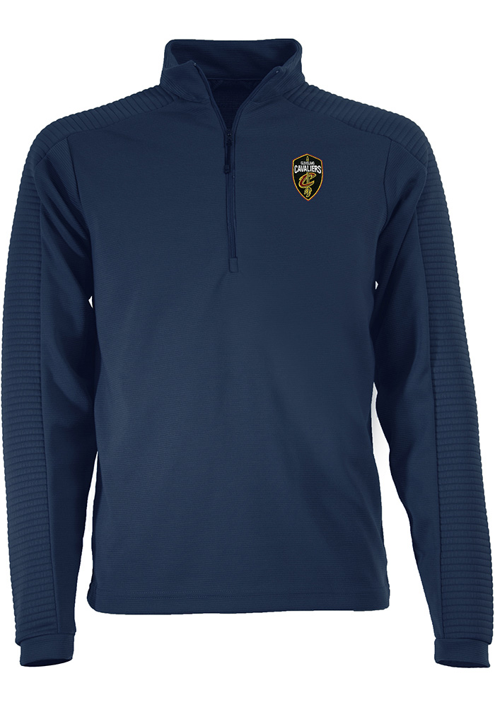 Antigua Cleveland Cavaliers Mens Navy Blue Anchorage Long Sleeve 1/4 Zip Pullover - Image 1