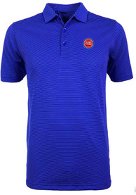 Antigua Detroit Pistons Blue Quest Short Sleeve Polo Shirt
