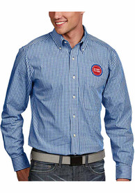 Antigua Detroit Pistons Blue Associate Dress Shirt