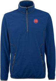 Antigua Detroit Pistons Blue Ice 1/4 Zip Pullover