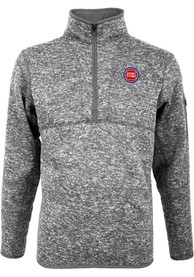Detroit Pistons Antigua Fortune 1/4 Zip Pullover - Grey
