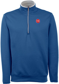 Detroit Pistons Antigua Leader 1/4 Zip Pullover - Blue