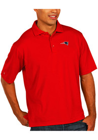 New England Patriots Antigua Pique Polo Shirt - Red