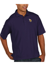 Minnesota Vikings Antigua Pique Polo Shirt - Purple