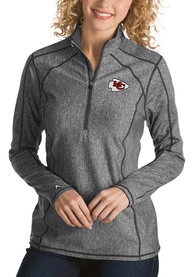Kansas City Chiefs Womens Antigua Tempo 1/4 Zip - Grey