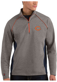 Chicago Bears Antigua Stamina 1/4 Zip Pullover - Charcoal