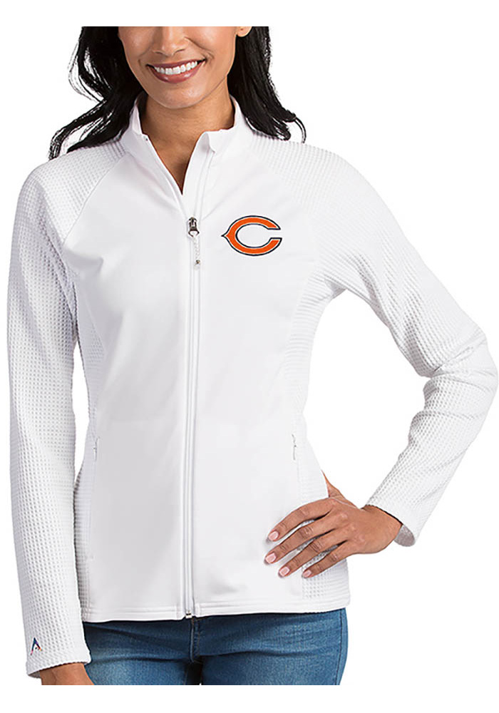 Antigua Chicago Bears Womens White Sonar Light Weight Jacket - Image 1