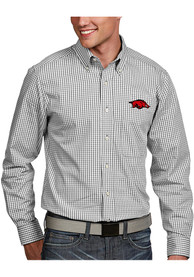 Antigua Arkansas Razorbacks White Associate Dress Shirt