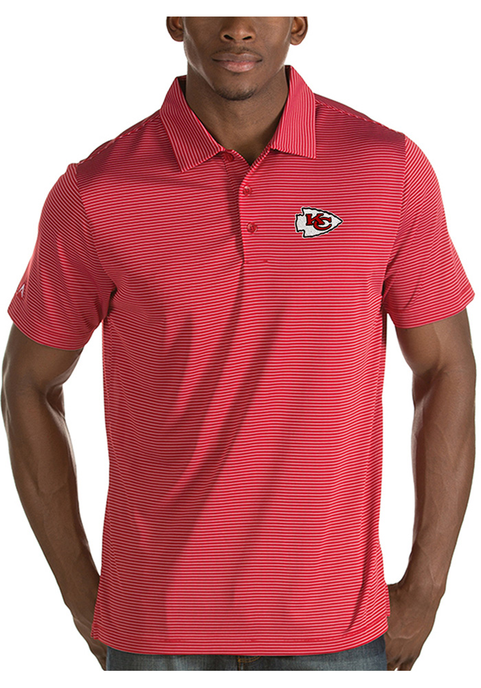 Antigua Kansas City Chiefs Mens Red Quest Short Sleeve Polo - Image 1