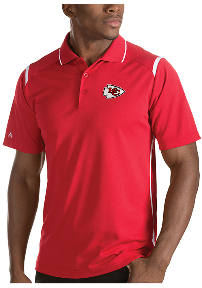 Antigua Kansas City Chiefs Mens Red Merit Short Sleeve Polo - Image 1