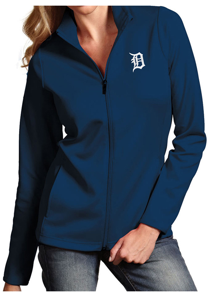 Antigua Detroit Tigers Womens Navy Blue Leader Light Weight Jacket - Image 1