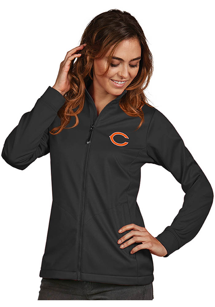 Antigua Chicago Bears Womens Grey Golf Heavy Weight Jacket - Image 1
