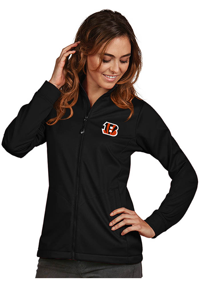 Antigua Cincinnati Bengals Womens Black Golf Heavy Weight Jacket - Image 1