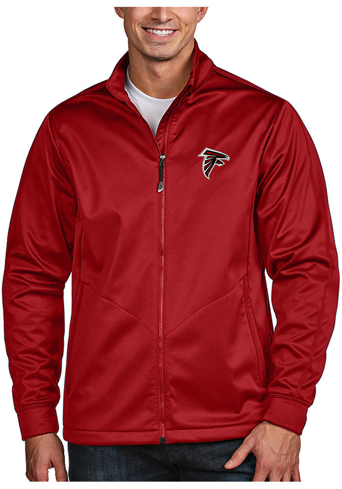 Antigua Atlanta Falcons Mens Red Golf Medium Weight Jacket - Image 1