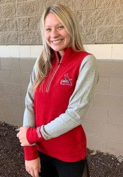 St Louis Cardinals Womens Antigua Pitch Pullover 1/4 Zip Pullover - Red