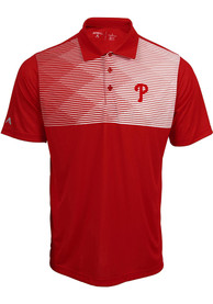 Antigua Philadelphia Phillies Red Tactic Short Sleeve Polo Shirt