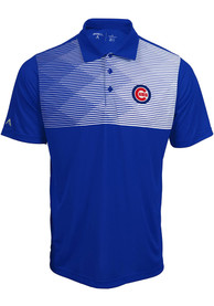 Antigua Chicago Cubs Blue Tactic Short Sleeve Polo Shirt