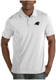 Carolina Panthers Antigua Quest Polo Shirt - White