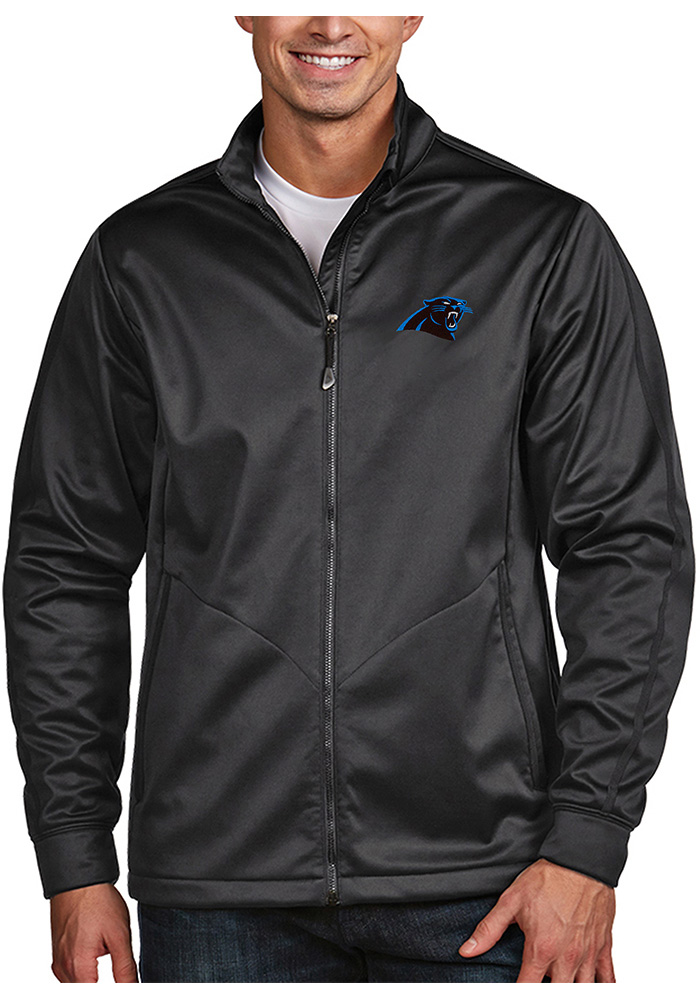 Carolina Panthers Mens Grey Golf Medium Weight Jacket - Image 1