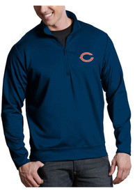 Chicago Bears Antigua Leader 1/4 Zip Pullover - Navy Blue