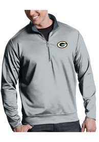 Green Bay Packers Antigua Leader 1/4 Zip Pullover - Silver