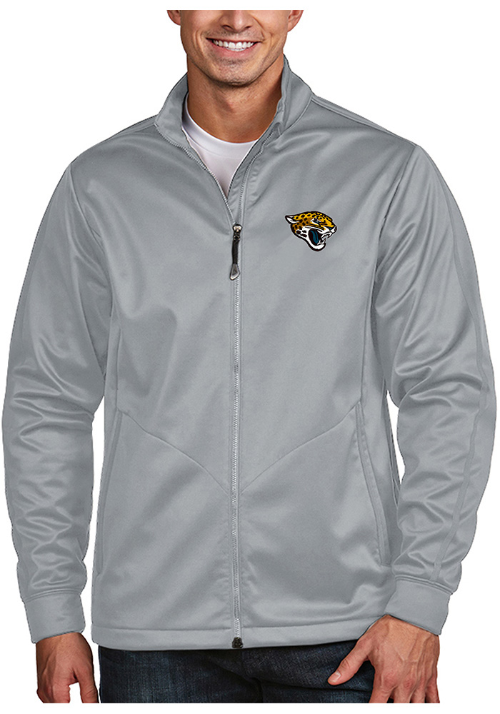 Antigua Jacksonville Jaguars Mens Silver Golf Light Weight Jacket - Image 1