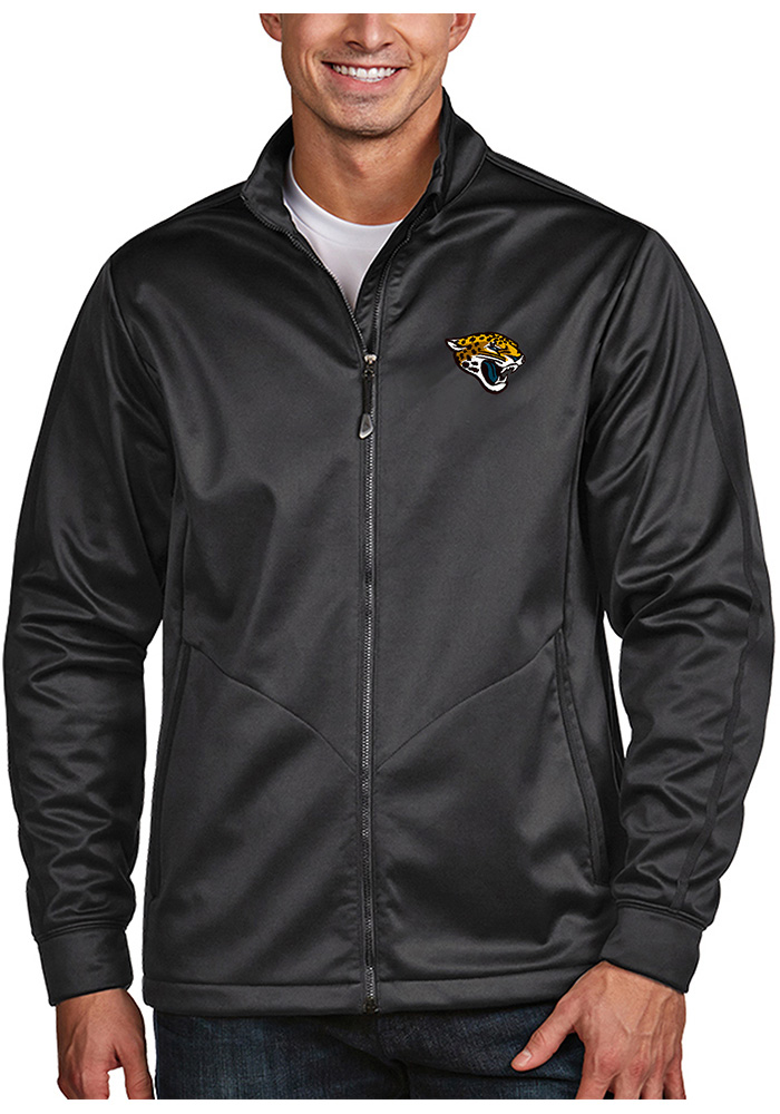Antigua Jacksonville Jaguars Mens Grey Golf Light Weight Jacket - Image 1