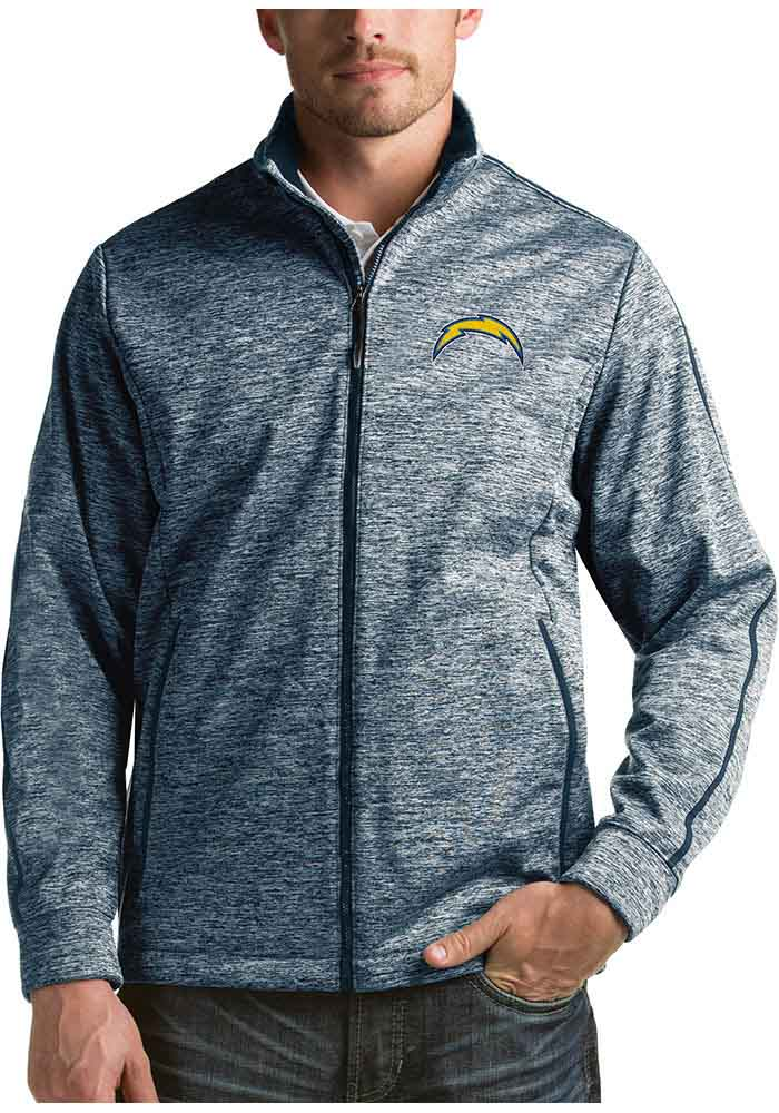 Antigua Los Angeles Chargers Mens Navy Blue Golf Light Weight Jacket - Image 1