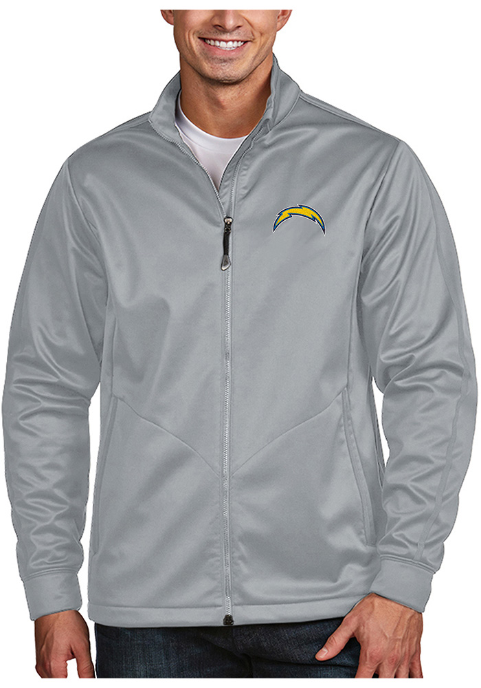 Antigua Los Angeles Chargers Mens Silver Golf Light Weight Jacket - Image 1