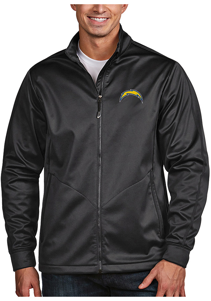 Antigua Los Angeles Chargers Mens Grey Golf Light Weight Jacket - Image 1