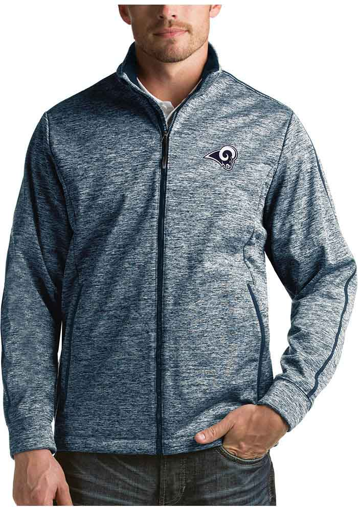 Antigua Los Angeles Rams Mens Navy Blue Golf Light Weight Jacket - Image 1