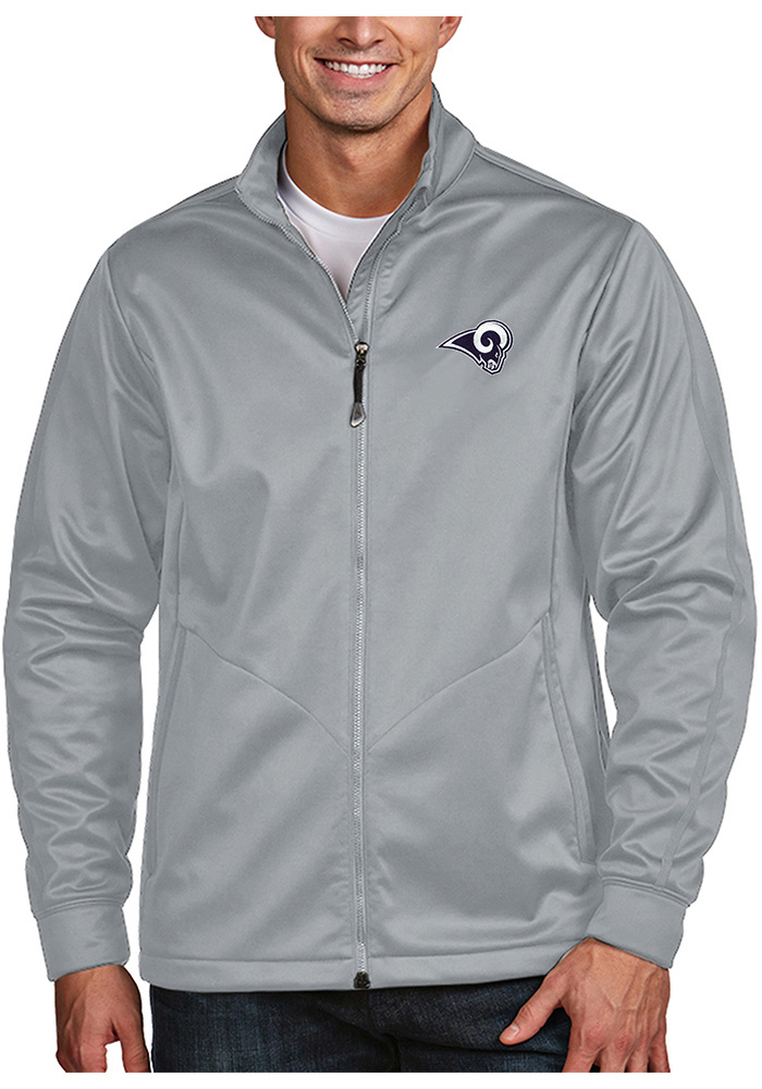 Antigua Los Angeles Rams Mens Silver Golf Light Weight Jacket - Image 1