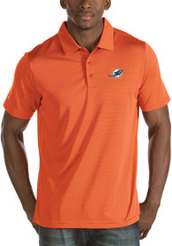 Miami Dolphins Antigua Quest Polo Shirt - Orange