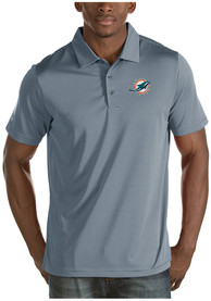 Miami Dolphins Antigua Quest Polo Shirt - Grey