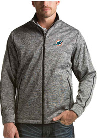 Miami Dolphins Antigua Golf Light Weight Jacket - Black