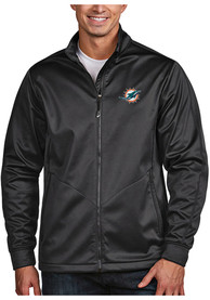Miami Dolphins Antigua Golf Light Weight Jacket - Grey