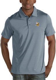 Minnesota Vikings Antigua Quest Polo Shirt - Grey
