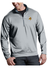 Minnesota Vikings Antigua Leader 1/4 Zip Pullover - Silver