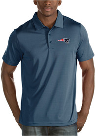 New England Patriots Antigua Quest Polo Shirt - Navy Blue